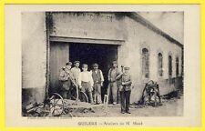 cpa 29 - GUILERS (Finistère) ATELIERS de MÉCANIQUE de M. MAZÉ Ouvriers Outils