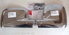 VW Transporter T5 + VW Caddy wing mirror trim - CHROME - SHINE BRAND NEW - PAIR