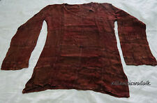 K801 Cotton long sleeve block printed Homemade patched women Shirt Nepal Tibet