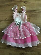 Girls Hello Kitty Pink Fancy Dress 3-4 Years Tutu Sparkly Party Halloween