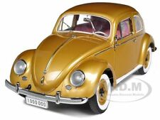 "1955 VOLKSWAGEN BEETLE KAFER GOLD ""THE ONE MILLIONTH"" CAR 1/12 BY SUNSTAR 5204"