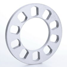 12mm Thick Car Wheel Spacers Adapters 5 Hole Hub Silver Aluminum for 5 Lug Studs