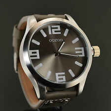 OOZOO XXL LINE n. 19-Big Steel Watch 50 mm-kultuhr designuhr OROLOGIO UOMO NEW