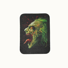 Biker Chopper Zombie Joker Face Böser Clown Echt Leder Aufnäher Leather Patch