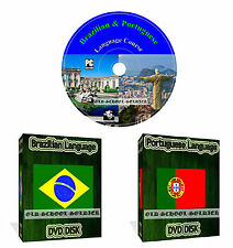 LEARN HOW TO SPEAK BRAZILIAN & PORTUGUESE LANGUAGE COURSE DVD DISK