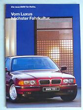 Prospekt BMW 7er E 38 - 730i, 740i, 750i, zur Premiere, 1.1994, 22 Seiten