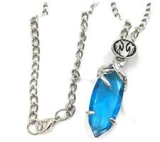 Final Fantasy Game Crystal Chronicles Yuna Necklace Blue Crystal Drop Pendants