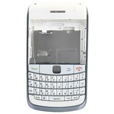 New Replacement Full Housing Keypad for BlackBerry 9700 White & Silver Frame