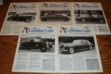 Original 1988 1989 Rolls Royce Bentley Canadian Lady Magazine Brochure Lot of 5