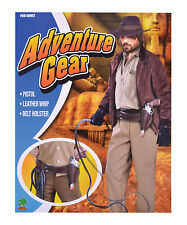 Indiana Jones aventurero funda + conjunto de cinturón de látigo Fancy Dress Costume Props