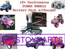 18V Volt Battery Kit Upgrade for12v Power Wheels Wrangler Jeeps w/Charger