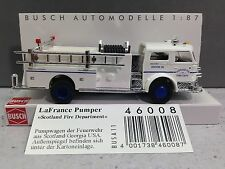HO 1/87 Busch # 46008 - 1970 American LaFrance Closed Cab Pumper White Scotland