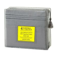 1800 TC Count Luxurious Egyptian Cotton SHEET SET Queen Size Slate Gray (SALE)