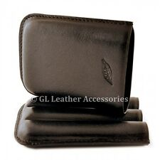 Black Cigar Case Holder For 3 Robusto Cigars (56 ring)