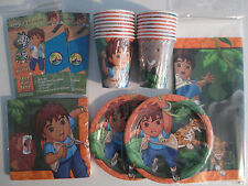 GO DIEGO GO Wild Animals Rescue - Birthday Party Supply Pack Kit w/ Invitations