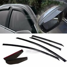 Smoke Window Vent Visor + Side Mirror Rain Guard 6P For HYUNDAI 11-16 Elantra MD