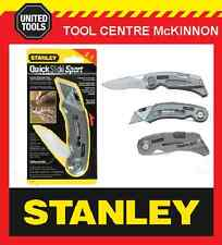 STANLEY QUICKSLIDE SPORT 2-IN-1 UTILITY POCKET KNIFE
