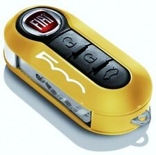 YELLOW KEY COVER FIAT 500 BRAND NEW GENUINE FIAT ACCESSORY. CLEARANCE
