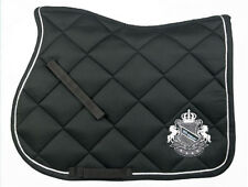 *NEW SEASON*-John Whitaker Bramham Saddle Pad-Numnah-BLACK-Cloth-Full-Free P&P*