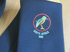 SOUTH Africa 1985 CRICKET Club Blue Tie made in BRITAIN - SEE PICTURES