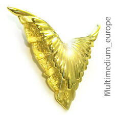 Christian Dior Couture Brosche vergoldet Flügel pin brooch gilt signed wings