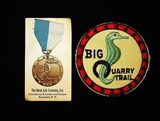 BOY SCOUT    BIG QUARRY TRAIL  MEDAL AND PP LOT  60'S ERA          ILL