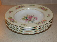 NORITAKE CHINA EMPIRE PATTERN SET 4 RIM SOUP BOWLS 8 1/4""