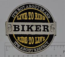 Its not about the Brand Club Outlaw Biker Funny Motorcycle Iron On Small Patch