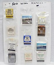 LOT OF 12 VINTAGE MATCH BOOKS WITH RED WING MINNESOTA ADVERTISING