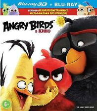 The Angry Birds Movie 3D/2D (Blu-ray 3D/2D, English/Russian) RegionFREE