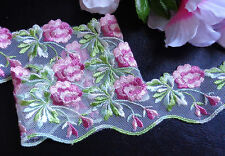 2 inch wide embroidery flower lace trim selling by the yard