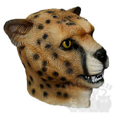 Latex Animal Head Wild Cat Leopard Cheetah Fancy Dress Stag Up Hen Party Masks