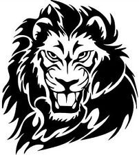 "10"" lion head tribal vinyl graphic decal car stickers peugeot tiger big cat fear"