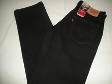 $44 NEW MEN 550 RELAXED LEVI'S BLACK JEANS SIZE 29 X 30  #DFG123