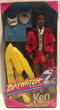Baywatch Barbie Ken African American Mattel With WaveRunner NRFB NIB