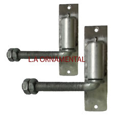 "3/4"" J-Bolt Gate Hinge Aluminum Adjustable Pair Heavy Duty Driveway Hinges Wood"