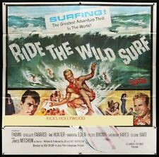 "Original RIDE THE WILD SURF 6 Sheet 81"" x 81"" Holy Grail class poster"