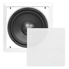 "In Wall Inwall Hi Fi Surround Sound Subwoofer 10"" 5.1 7.1 Sub Cinema Speaker"