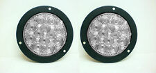 "TWO 4"" Round 12 Diode White LED Flush Mount Backup Reverse Light Kits 2"