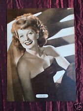 LUCILLE BALL - FILM STAR - 1 PAGE PICTURE - CLIPPING / CUTTING