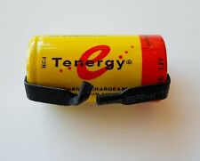 Tenergy Sub C NiCd 2200 mAh Battery with factory installed  solder Tabs