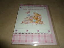 Congratlations On Your Baby Girl Greeting Card & Envelope~NEW IN SEALED PACKAGE!