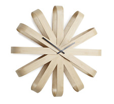 Scandinavian Natural Ribbonwood Retro Wall Clock - Modern Home Decor, Lounge New