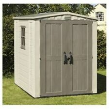 NEW BOXED  Keter Apex Plastic Garden Shed, 6x6ft OUR SALE ITEM