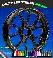 Set Adesivi Cerchi Moto Ruote DUCATI MONSTER 696 796 1100 Tricolore