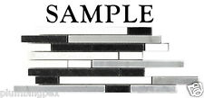 *SAMPLE Bullet Black White Gray Thassos Marble Kitchen Bathroom Mosaic Tile