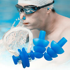 Classical Waterproof Soft Silicone Swimming Set Nose Clip + Ear Plug Kits Boxed