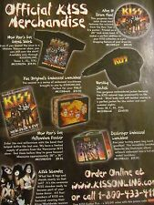 Kiss, Official Merchandise, Full Page Vintage Promotional Ad