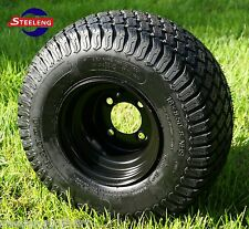 "GOLF CART 8"" BLACK STEEL WHEELS and 18""x8.5""-8"" TURF/STREET TIRES (SET OF 4)"