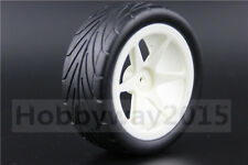 4pcs 1/10 Buggy Tires 6 Spoke Wheel Tire Set For 4WD Buggy On Road 25034+27007
